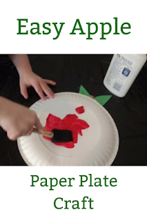 Easy Apple Paper Plate Craft