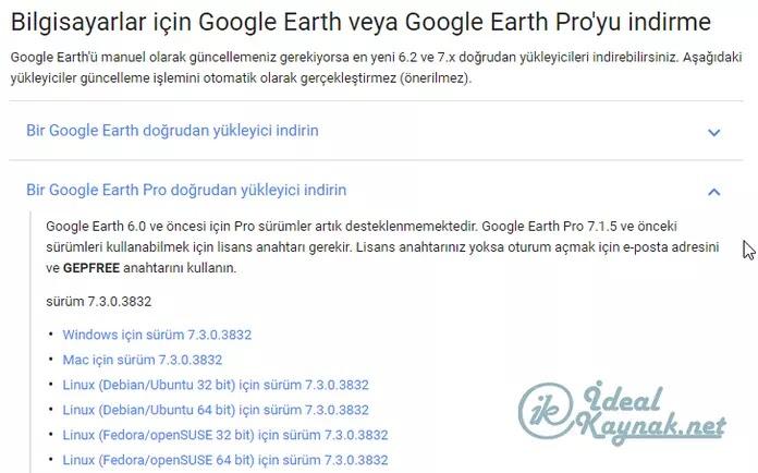 Google Earth Pro'ya Ücretsiz Sahip Olun
