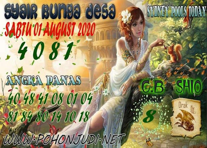 Kode syair Sydney Sabtu 1 Agustus 2020 152
