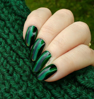 Lealac LLC-A with Essence Stampy 002  over Nails Inc Emerald Street