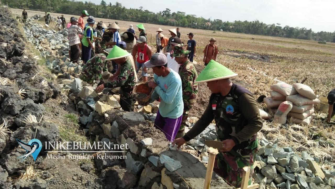 Belum Dibuka, Pra TMMD di Puring Bedah Lima RTLH dan Bangun Talud Jalan