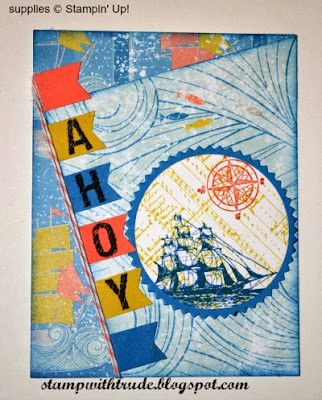 High Tide, Mojo Monday, birthday card, masculine, Open Sea, Stamp with Trude, Stampin' Up!
