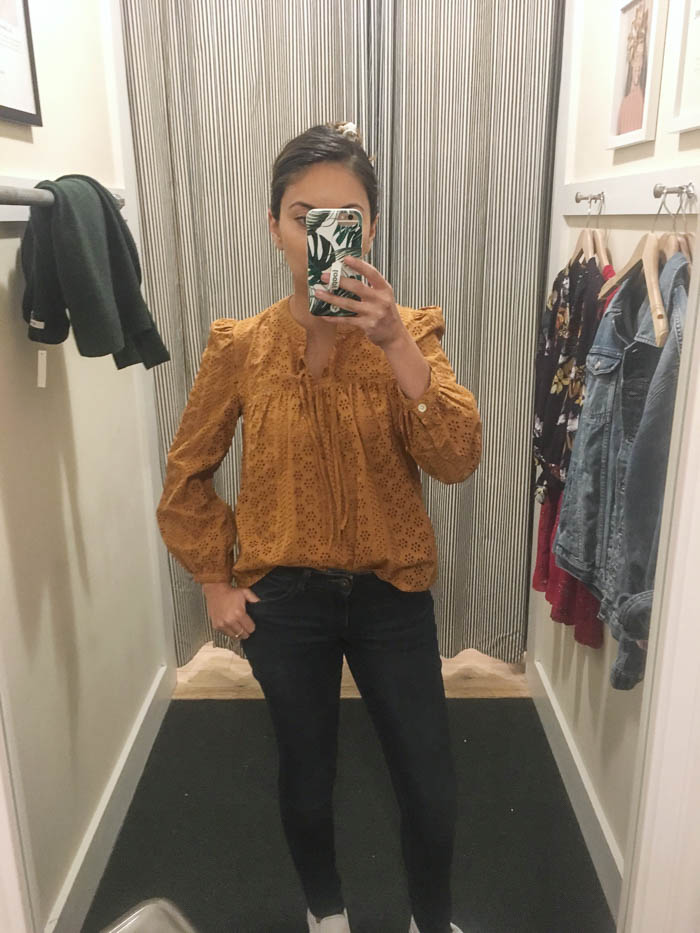 Madewell fitting room try on