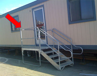 rent or buy aluminum stairs for mobile modular trailers - Aluminum Stairs