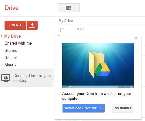 application windows google drive