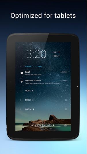 Aplikasi Lock Screen Android Terapik Dengan Puluhan Tema - Echo Notifications