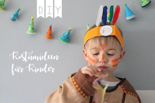 DIY Karneval Kostueme Verkleiden Kinder Indianer Jules kleines Freudenhaus