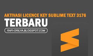 Aktivasi Licence Key Sublime Text 3176 Terbaru