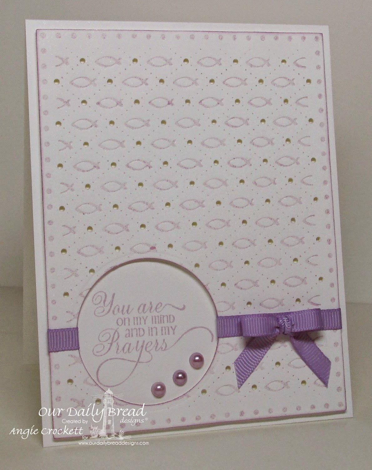 ODBD Faithful Fish Pattern Die and Debossing Plate, Flourished Verses, Card Designer Angie Crockett