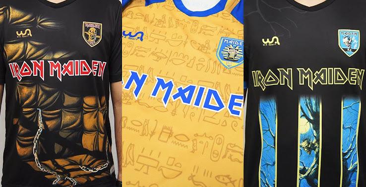 Wa Sports Powerslave Iron Maiden Limited Edition Soccer Jersey Shorts