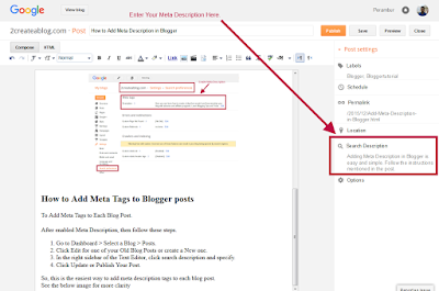 Add Meta Tags to Each Blog Post - Blogger Tutorial