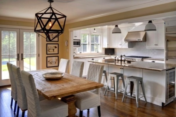 Kitchen and Dining Room Combination Makeovers