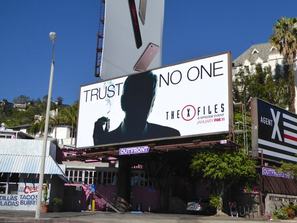 The XFiles TV miniseries billboard