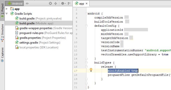 Android studio - Instant run & Proguard