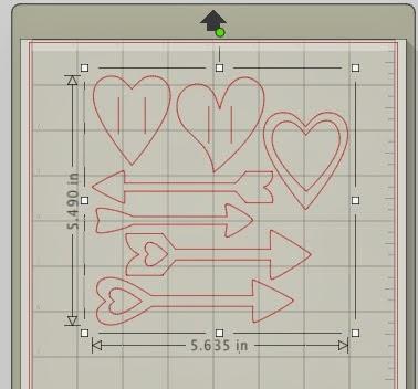 Nail art, Silhouette tutorial, Silhouette Studio, heart, arrows