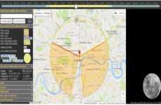 MoonCalc: sitio web que permite calcular la posición de la Luna para cualquier día, hora, y lugar