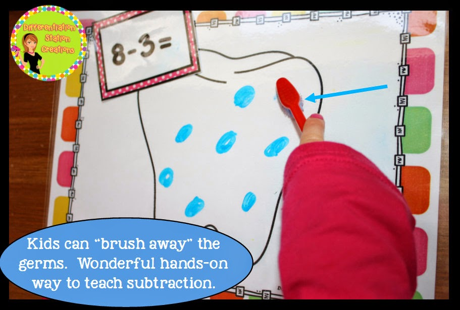 You can see more ideas for hands on learning with subtraction here.