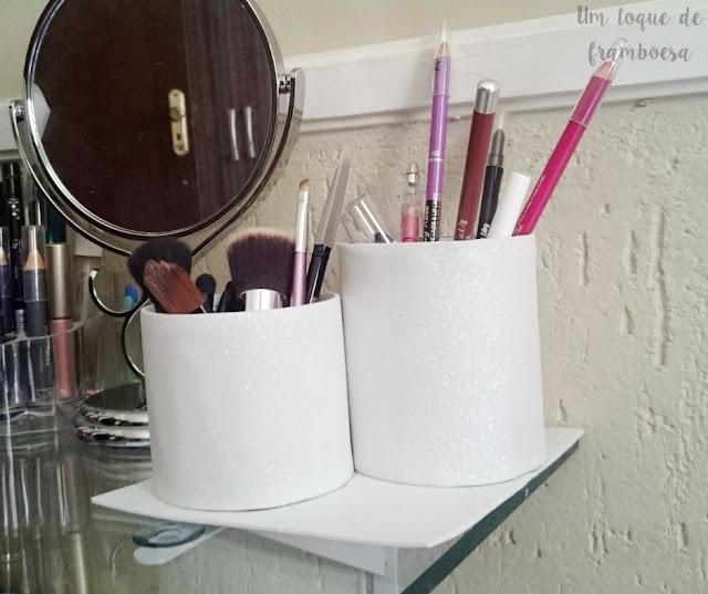 como fazer organizador de maquiagem com E.V.A.