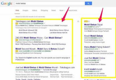 Cek persaingan antar penjual melalui google