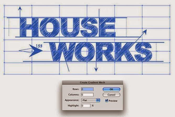 Blueprint-Style Text in Adobe Illustrator