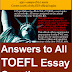 EBOOK - Answers to all TOEFL Essay Questions