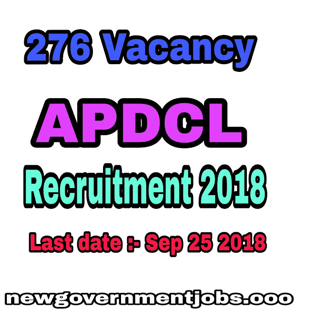 276 APDCL Recruitment for Group A and Group B 2018 - Apply now