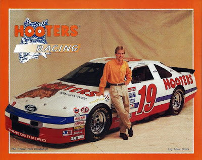 Loy Allen Jr. #19 Hooters Ford Racing Champions 1/64 NASCAR diecast blog 1994