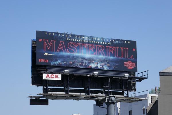 Stranger Things 2 Masterful Emmy FYC billboard