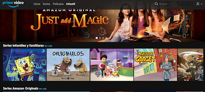 Amazon Prime Video, cine y series para los niñosAmazon Prime Video, cine y series para los niños