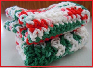 Crochet Christmas Dishcloth Pattern