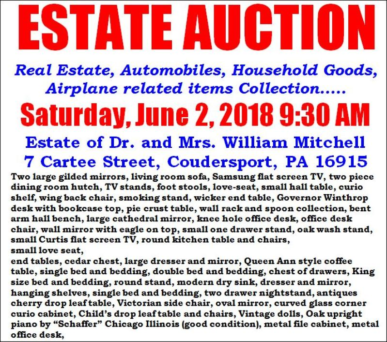 6-2 M & W Auction, Dr. & Mrs. Mitchell Estate In C...