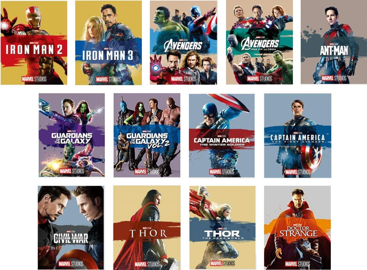 Movie Shopper's Guide - Marvel Cinematic Universe Blu-ray : マーベル・シネマティック・ユニバースのこれまでに公開されたヒーロー映画20本のうちの13作品のBlu-rayを一気に揃えることのできるセットが、明日12月11日(火)に発売 ! !