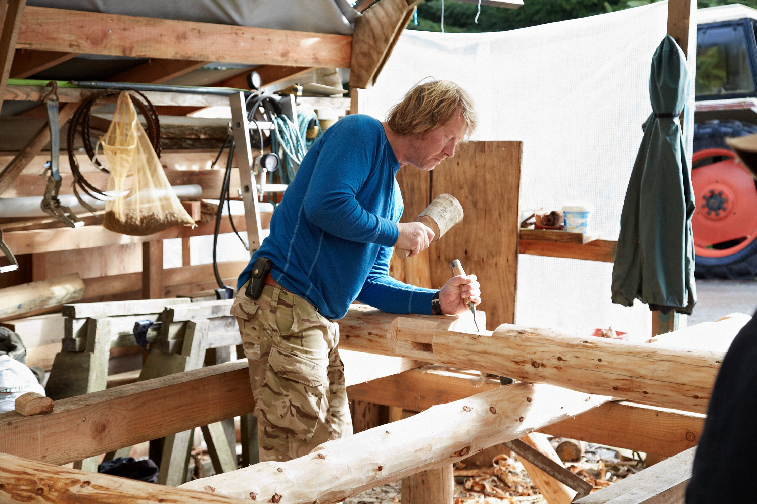 Roundwood timber framing course, with Jamie Miller of Ty Pren, in ...