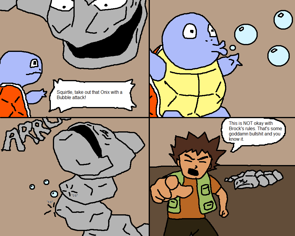 Using Squirtle against Brock