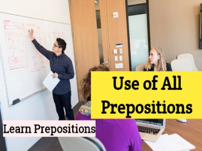 Preposition Examples