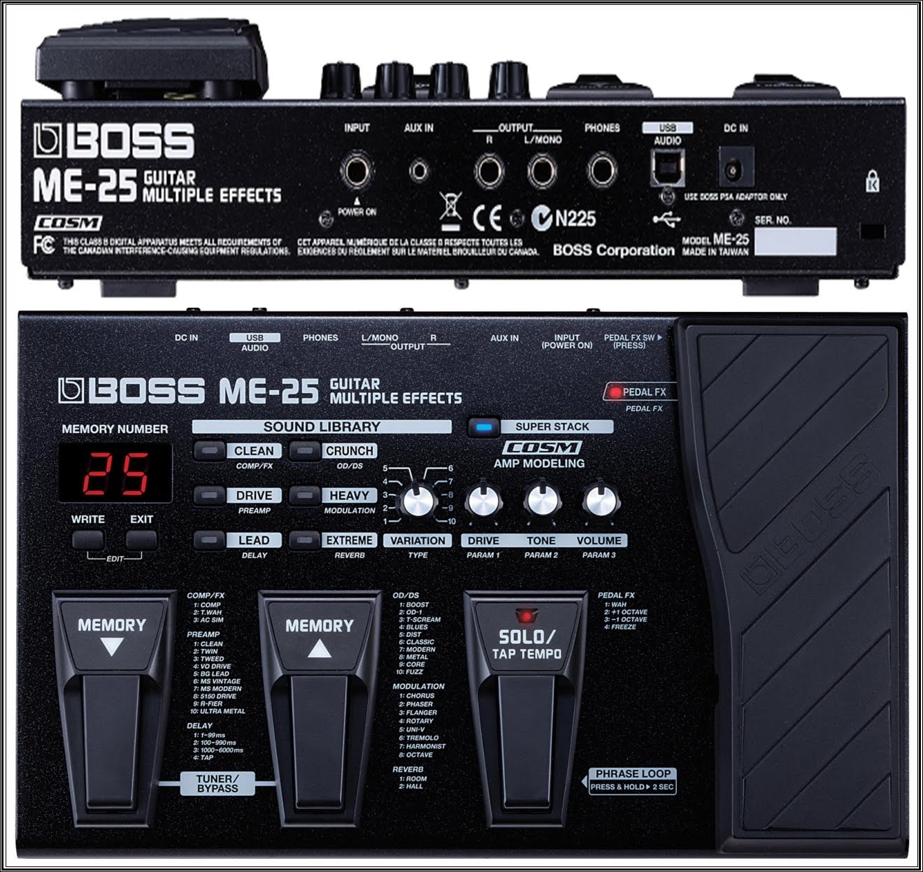 guitars blog boss me 25 guitar multiple effects specifications. Black Bedroom Furniture Sets. Home Design Ideas
