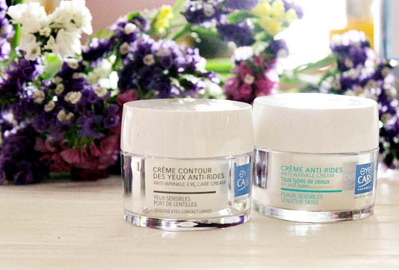 Французский уход за чувствительной кожей от EYE CARE: Крем для лица против морщин и Восстанавливающий крем для контура глаз. Anti-Wrinkle Cream and Anti-Wrinkle Eye Cream / обзор, отзывы