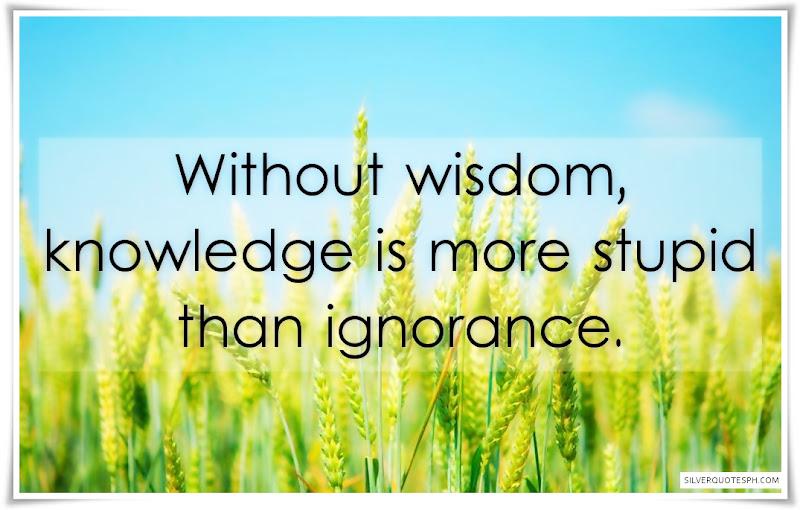 Without Wisdom
