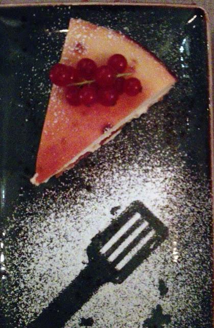 Tarta de queso en restaurante Mesa 3, Tusolovive Madrid