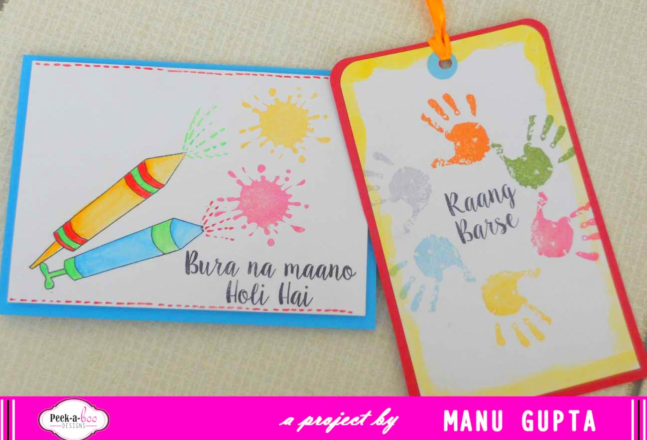 Holi Card Making Ideas Part - 48: I Almost Made The Tags In Sync With The Cards That I Did!