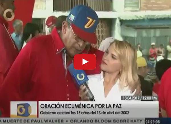 García Carneiro completamente ebrio metiendo mano a reportera