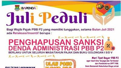 Program Juli Peduli, Bapenda Kabupaten Tangerang Hapus Sanksi Administrasi PBB P2