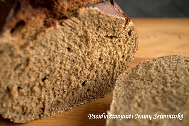RECEPTAS: Lengvai paruošiama naminė ruginė (juoda) duona (Lietuva)