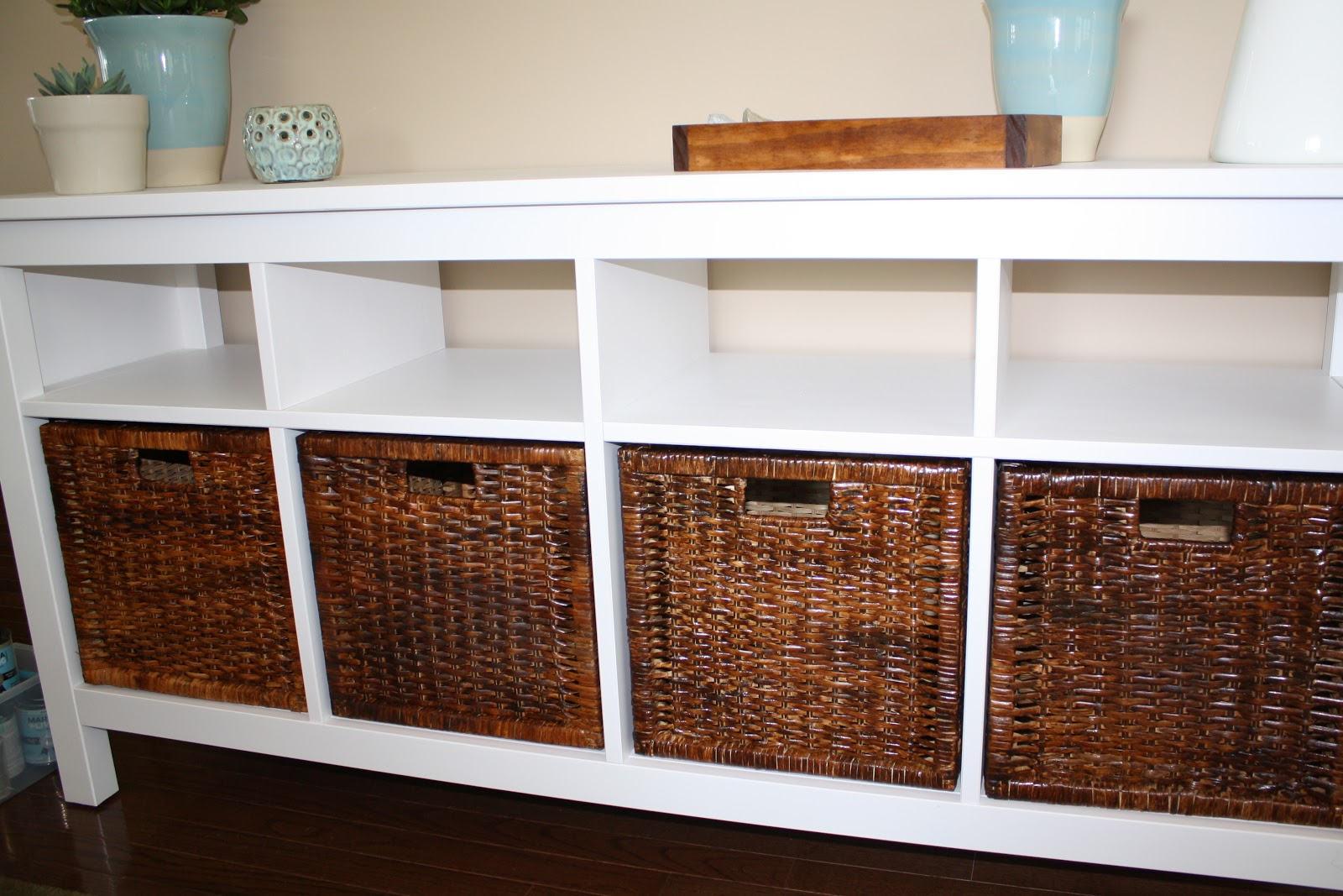 Ikea Expedit Chalk Paint A Charming Nest Ikea Baskets Transformed
