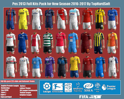 Pes 2013 Full Kits Pack for New Season 2016-2017 By TopHardSoft