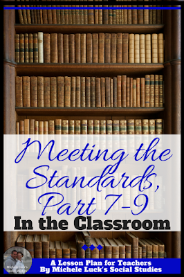 Are you trying to teach analysis with text, reasoning and evidence, or compare and contrast in the middle or high school classroom? This post on How to Teach Common Core Standards 7-9 in the Secondary Social Studies Classroom will be a great help! The ideas on Standard 9 are favorites in my classes. #teaching #CCSS #commoncorestandards #standards CCSS Standard 7 8 and 9