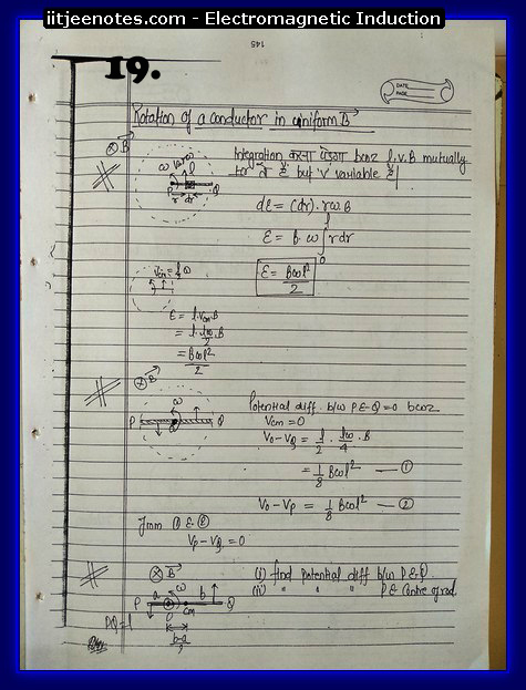 Electromagnetic Induction Notes IITJEE5