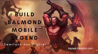 Build Balmond Mobile legends