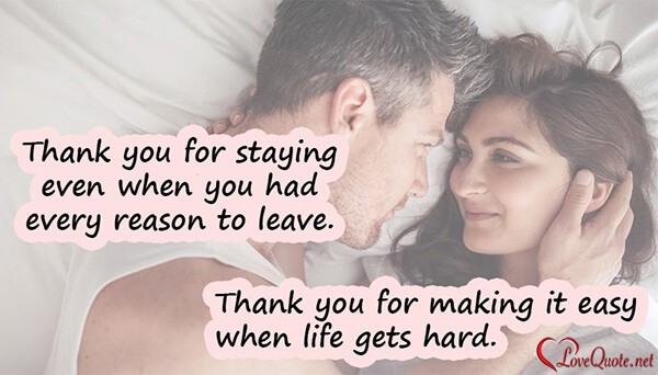 Thank you quote on love