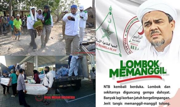 HRS Tetapkan Gempa Lombok Bencana Nasional, Kerahkan Semua Relawan FPI
